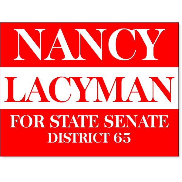 """Red Election Yard Sign 