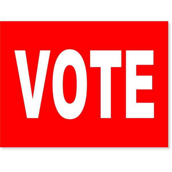 "Red Vote Yard Sign | 18"" x 24"""