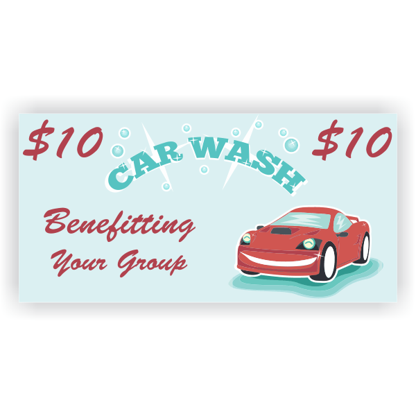 Sparkling Clean Car Wash Banner - 3' x 6'
