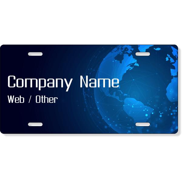 Tech World License Plate