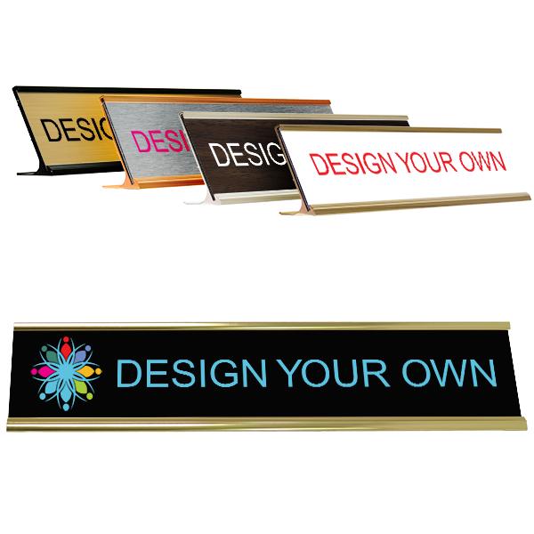 "Full Color 2"" x 10"" Desk Name Plate"