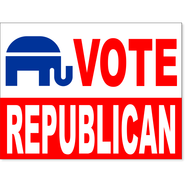 "Vote Republican Yard Sign | 18"" x 24"""