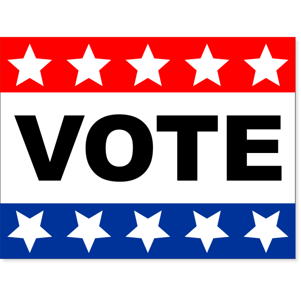 """Vote Yard Sign with Stars and Stripes   18"""" x 24"""""""