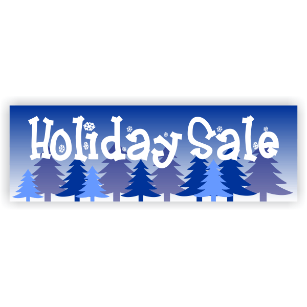Winter Holiday Sale Banner | 2' x 6'