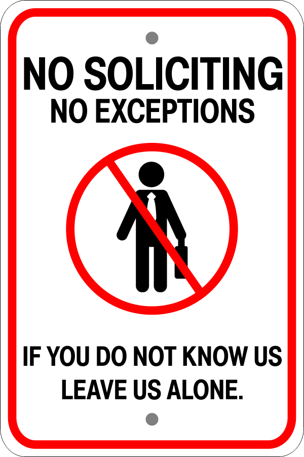 No Exceptions Sign