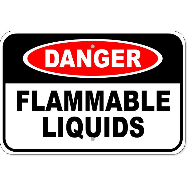 "Danger Flammable Liquids Aluminum Sign | 12"" x 18"""