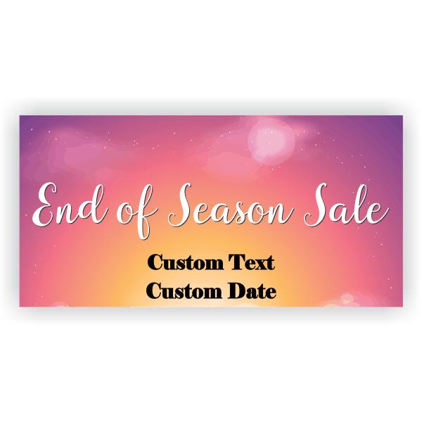 End of Season Banner - 3'x 6'