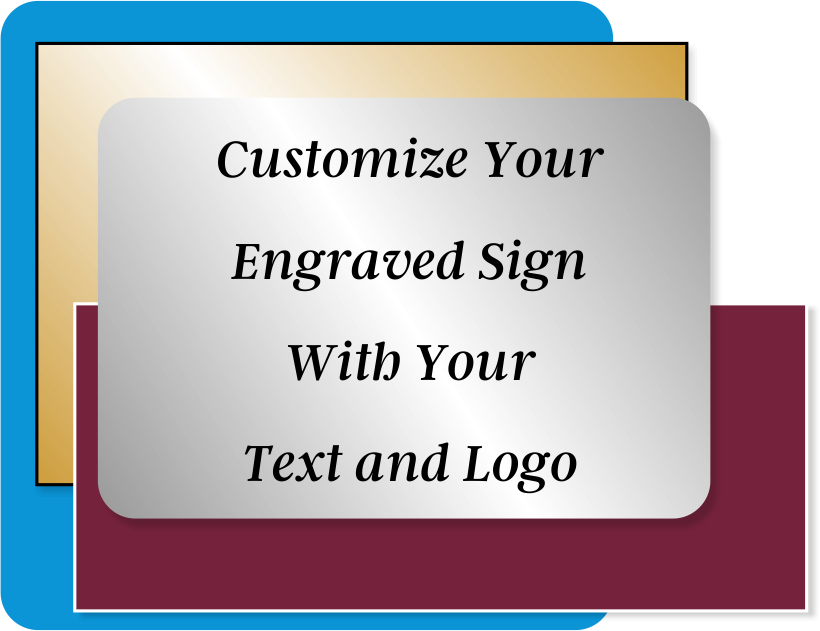 Engraved Sign Horizontal 1 in x 13 in