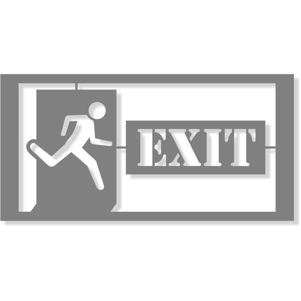 "Exit Icon Stencil   4"" x 8"""