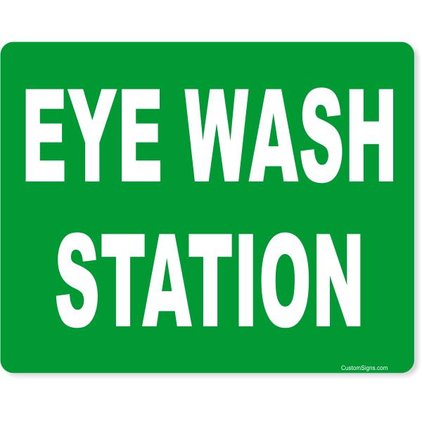 """Eye Wash Station Full Color Sign   8"""" x 10"""""""