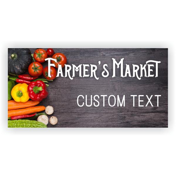 Farmers Market Banner - 3' x 6'