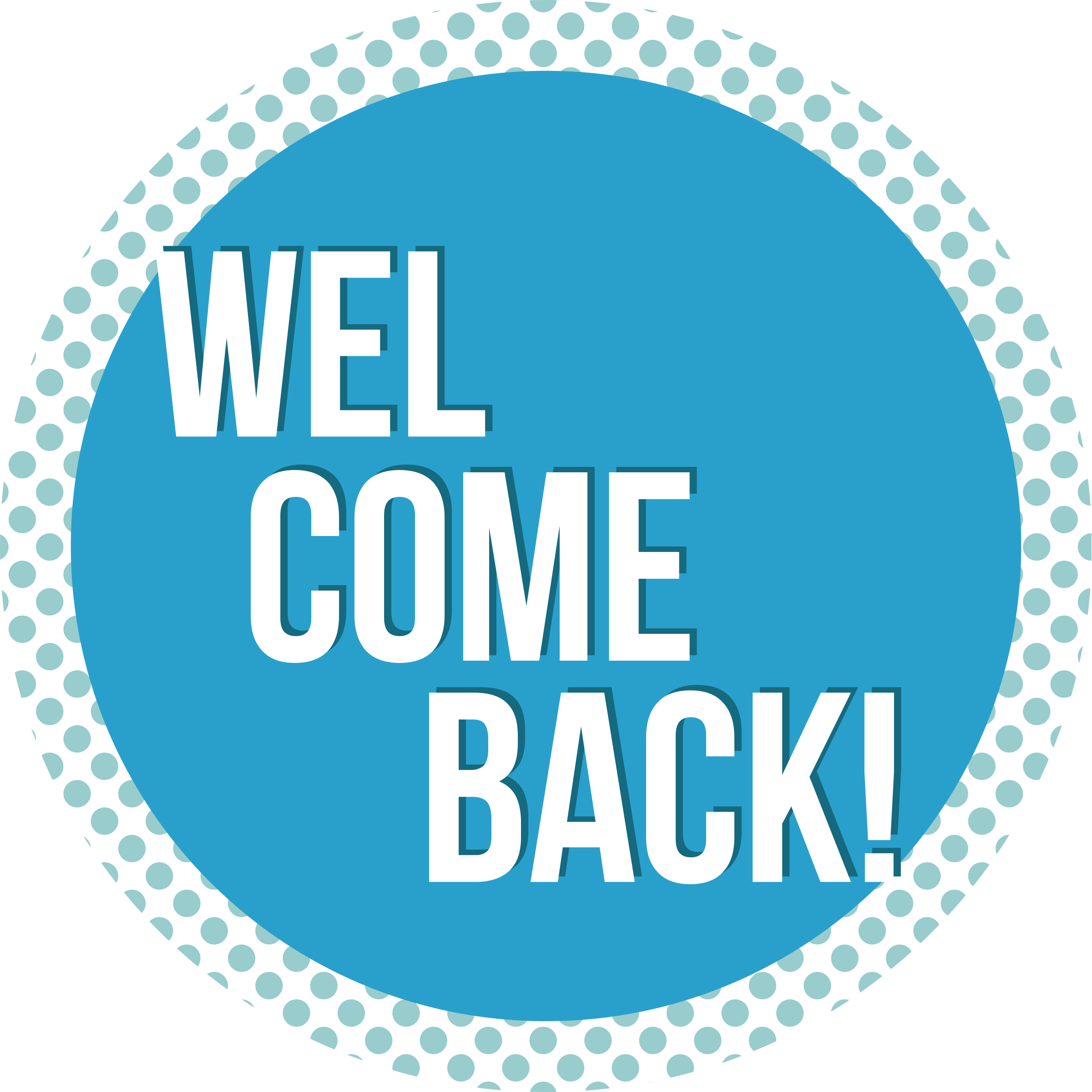 Welcome Back Business Reopening Floor Decal