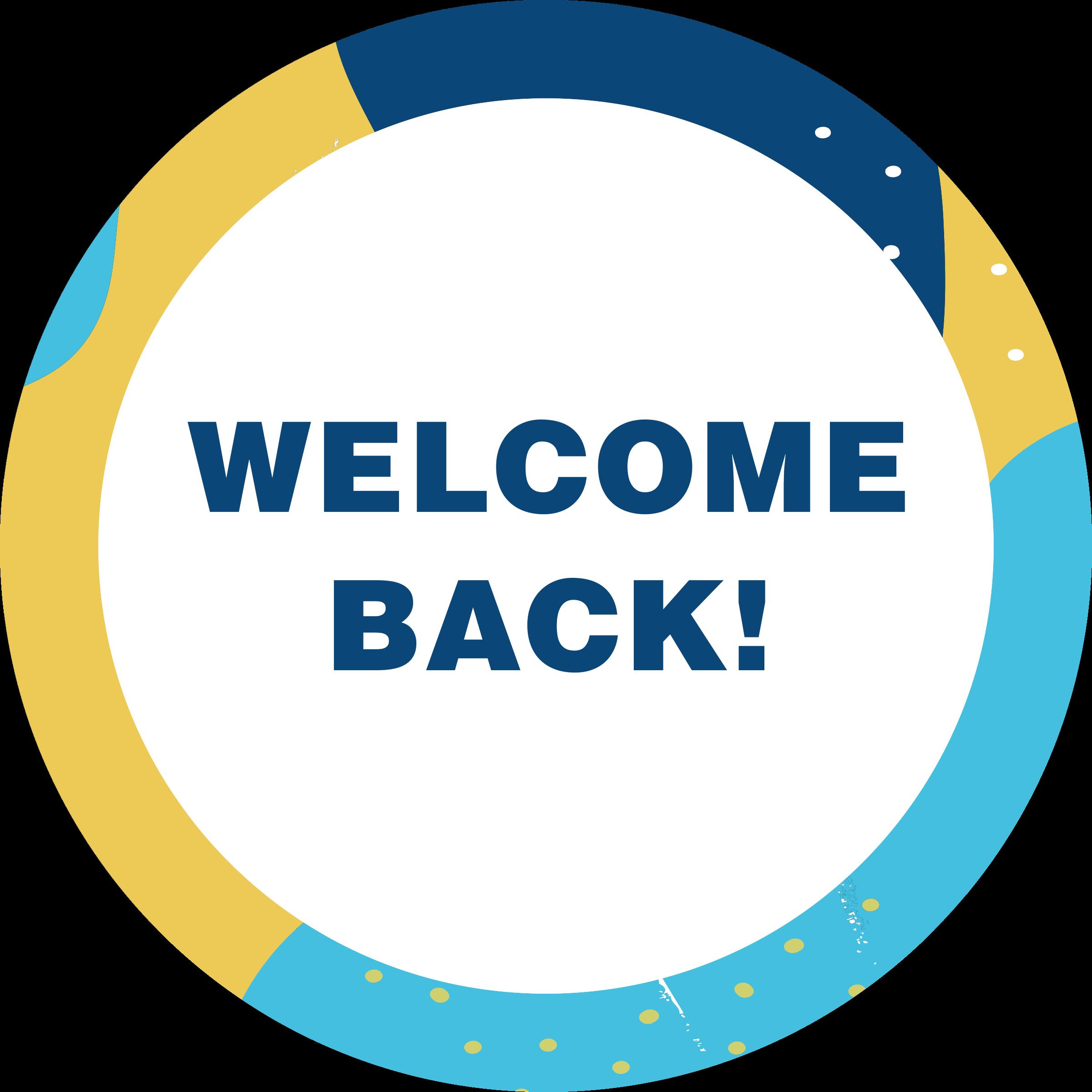 Welcome Back Aqua Set Business Reopening Floor Decal
