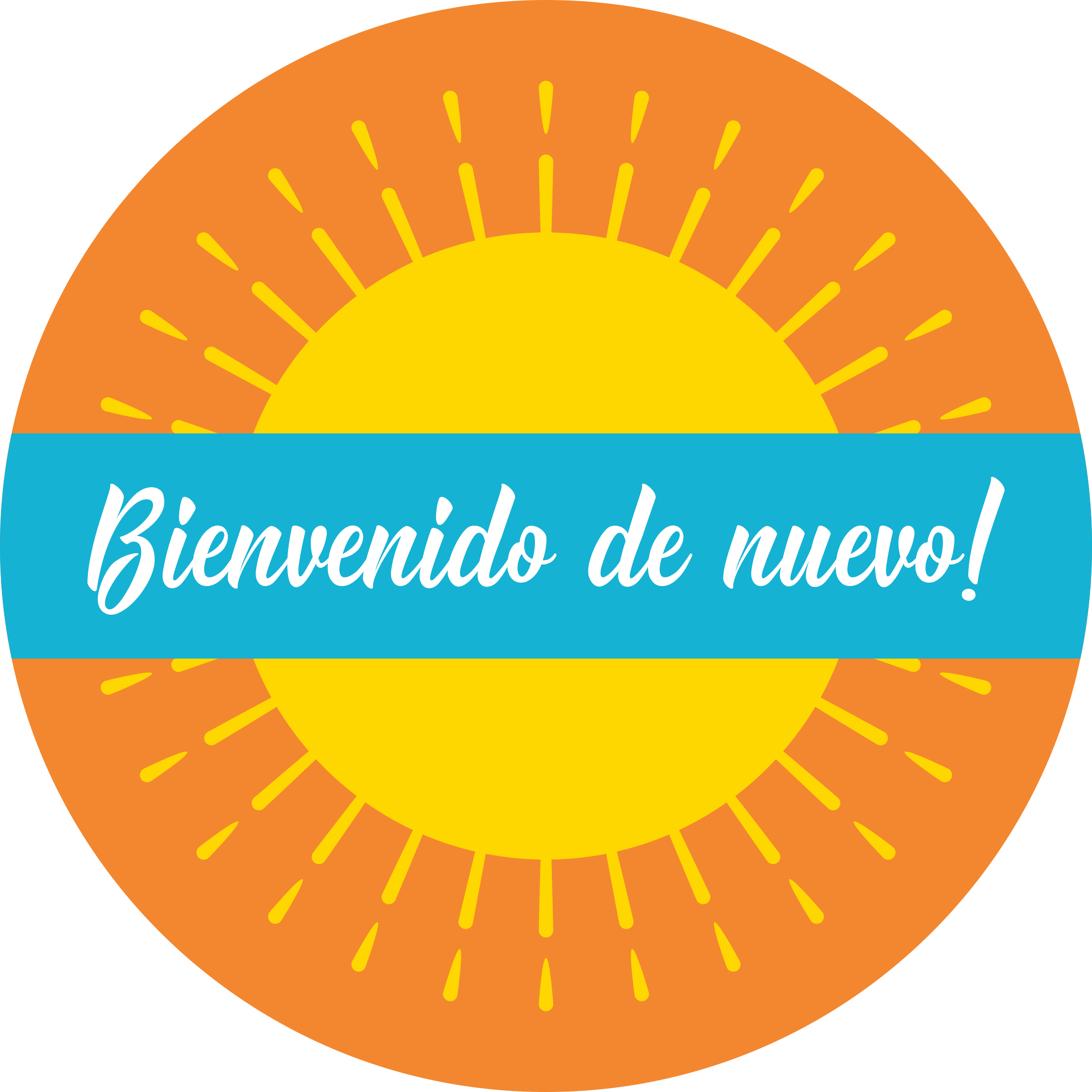 Welcome Back Spanish Set Business Reopening Floor Decal