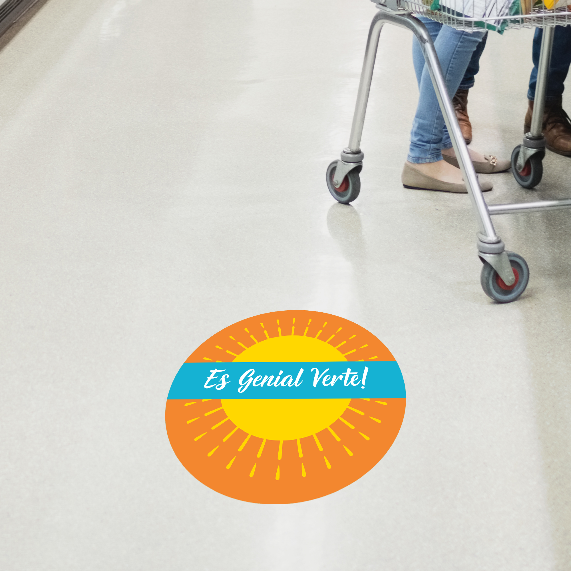 It's Great to See You Spanish Set Business Reopening Floor Decal