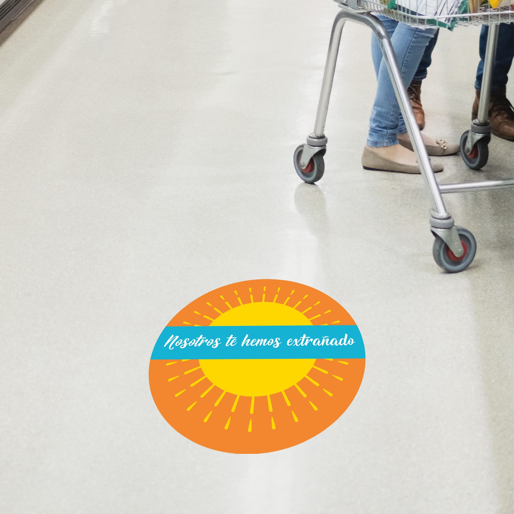 We've Missed You Spanish Set Business Reopening Floor Decal