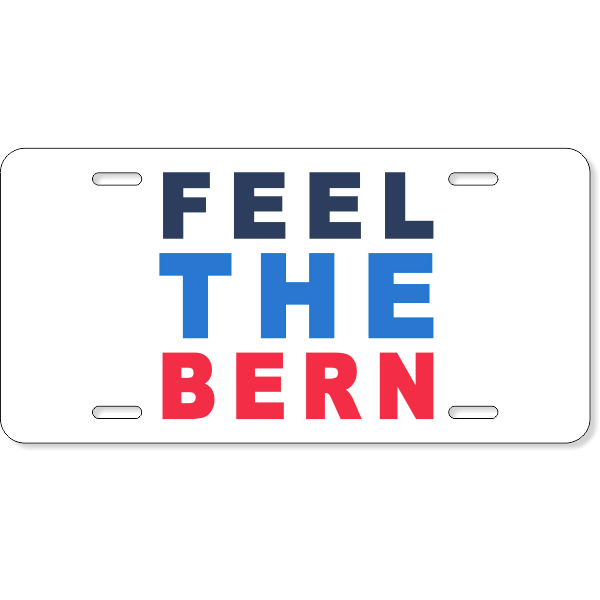 Feel The Bern License Plate