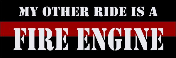 Fire Engine Bumper Sticker