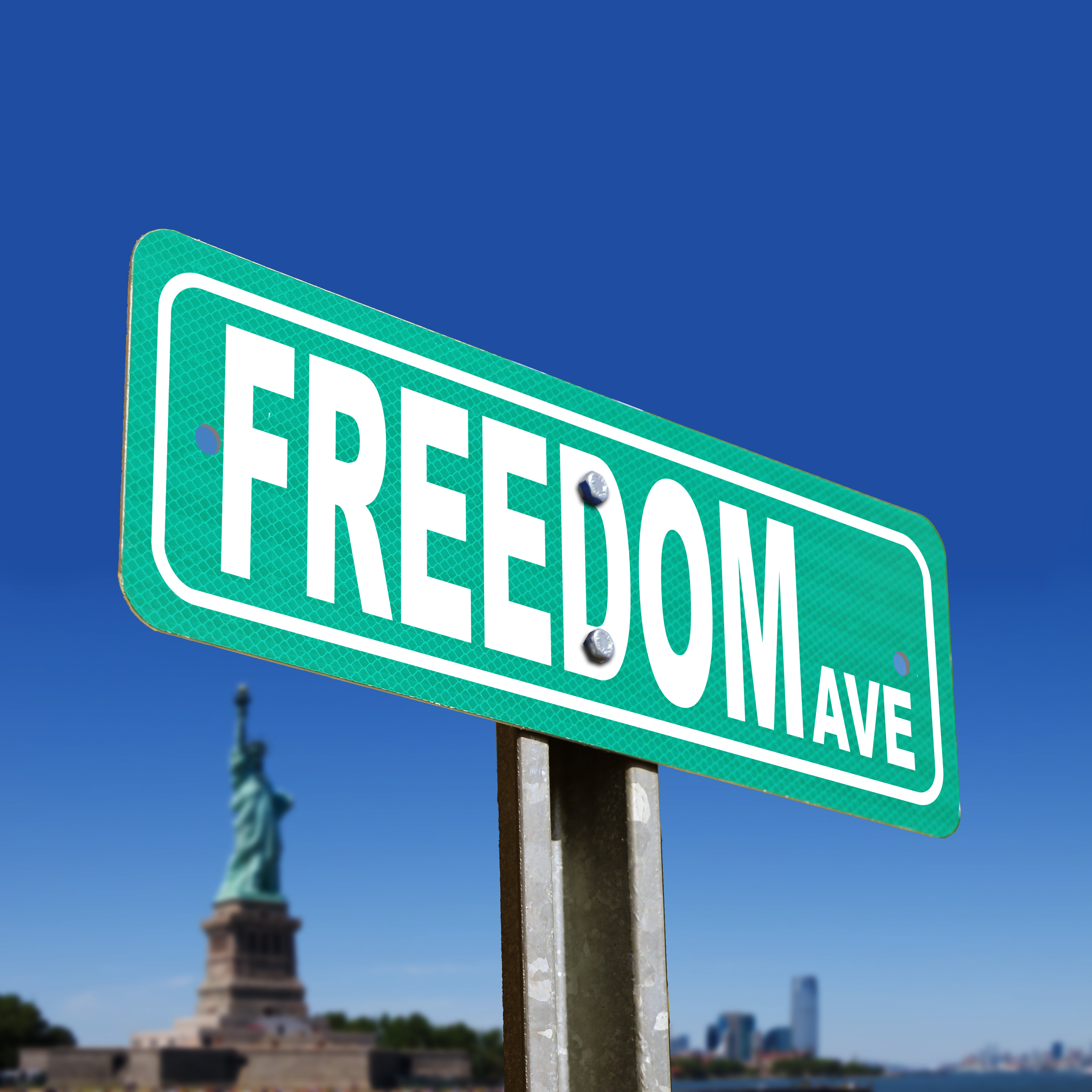 Freedom Ave Street Sign