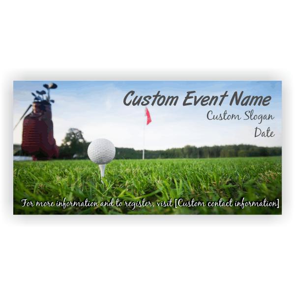 Golf Tournament Banner - 3' x 6'