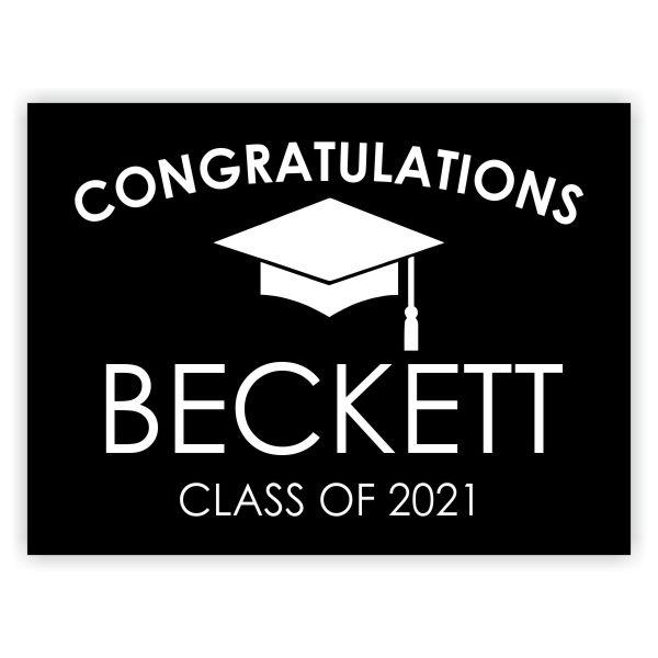 Congratulations Grad Cap | Graduation Yard Sign