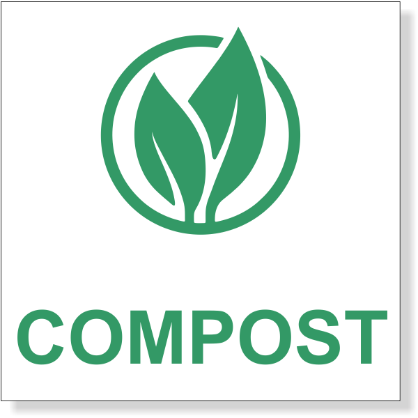 """Green Compost Decal 