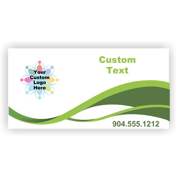Green Swirl Modern Custom Logo Banner