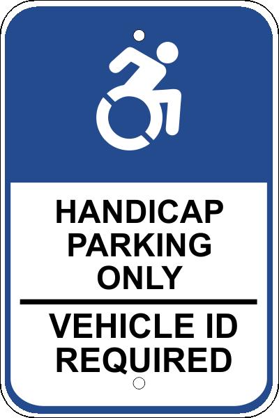 Handicap Reserved Sign