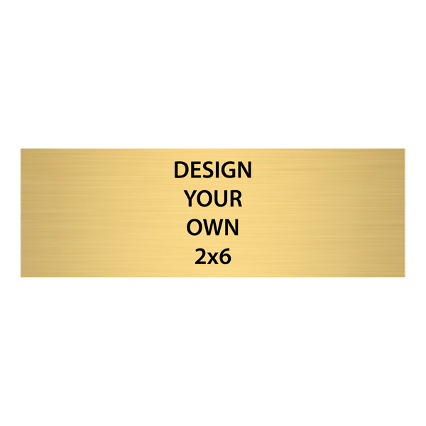 """Horizontal Engraved Heavy Brass Signs 2"""" x 6"""""""