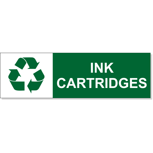 """Ink Cartridge Recycle Decal 