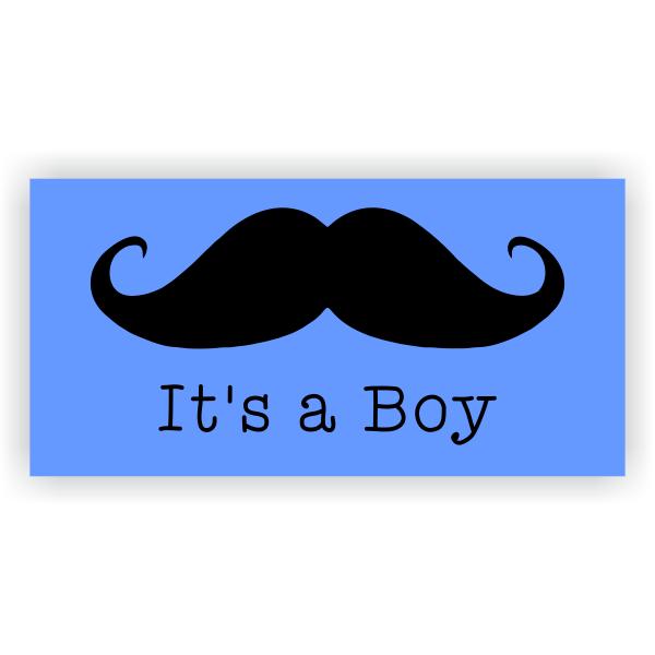 Its A Boy Mustache Banner - 2' x 4'