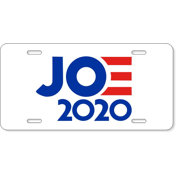 Joe 2020 License Plate