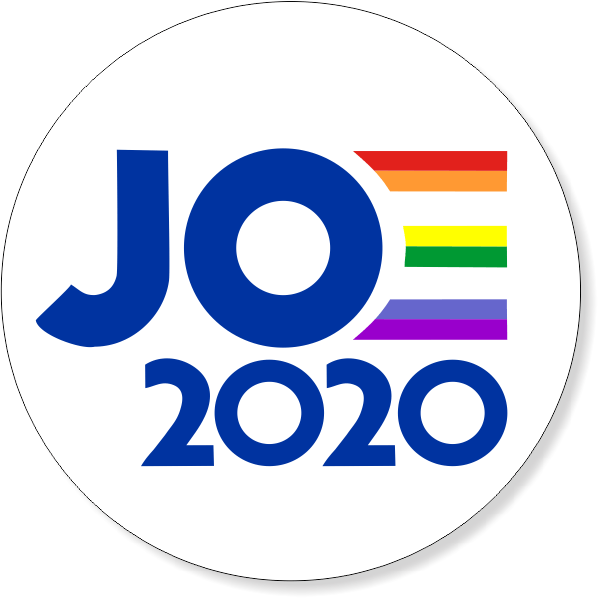 "4"" Round Joe 2020 Pride Bumper Sticker"