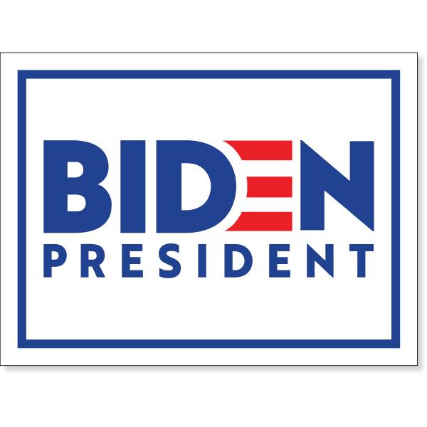 "Joe Biden Presidential Campaign Yard Sign   18"" x 24"""