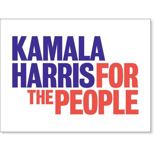 "Kamala Harris Presidential Campaign Yard Sign   18"" x 24"""