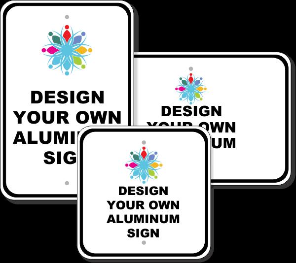 Large Color Aluminum Signs