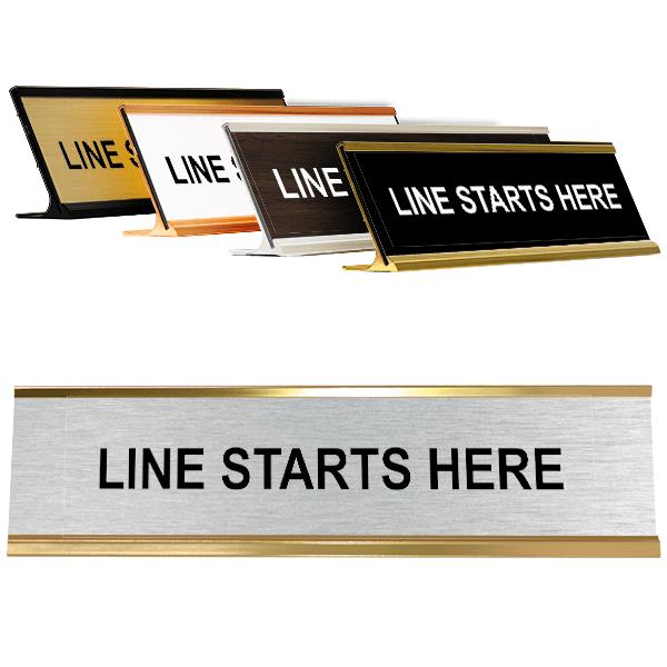 "Line Starts Here Desk Plate   2"" x 8"""