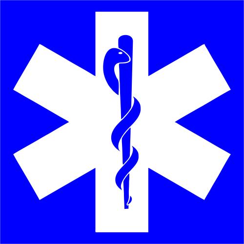 Medical Caduseus Sign Engraved Sign