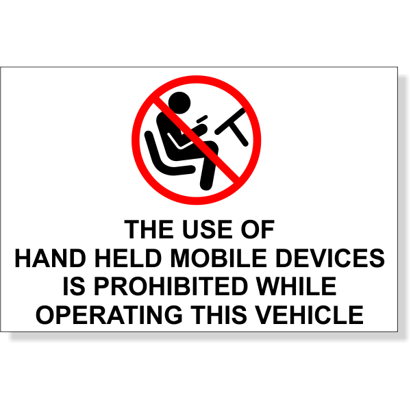"""Mobile Device Prohibited While Operating Bumper Sticker 