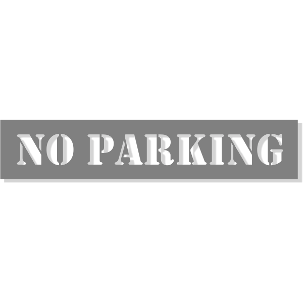 "NO PARKING 1 line Mylar Stencil   2"" x 10"""