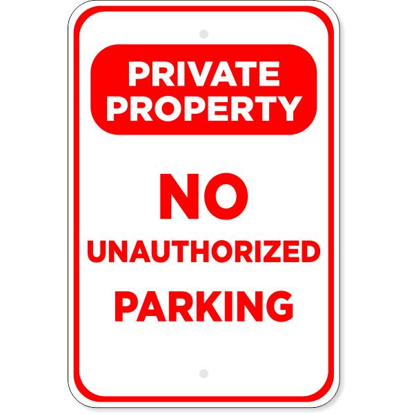 "No Parking Private Property Aluminum Sign | 18"" x 12"""