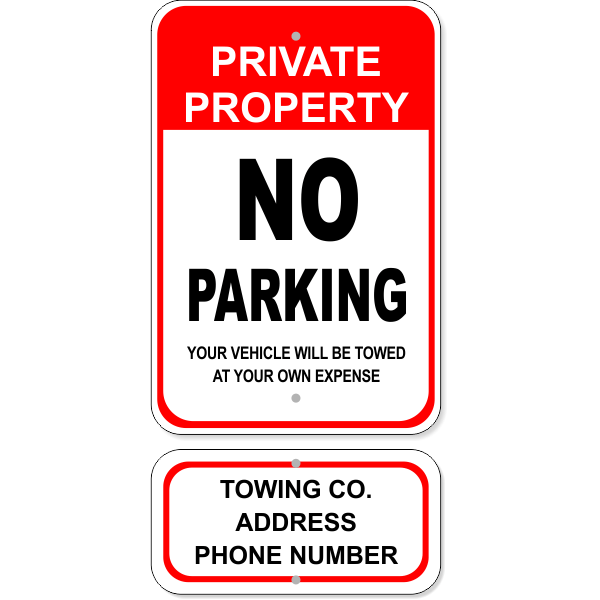No Parking Tow Sign Bundle