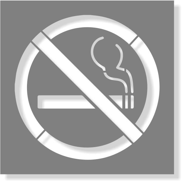 No Smoking Stencil   Multiple Sizes