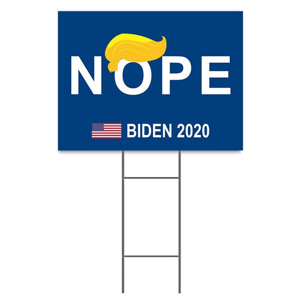 """Nope"" Funny Yard Sign   18"" x 24"""