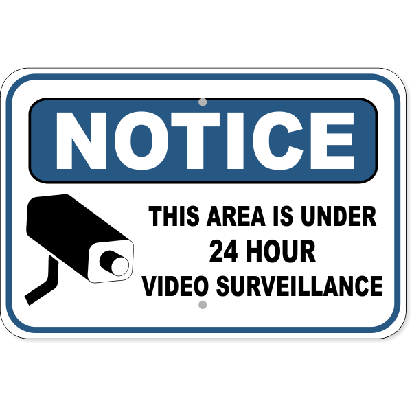 "Notice Video Camera Surveillance Aluminum Sign | 12"" x 18"""