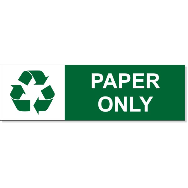 """Paper Recycle Decal 
