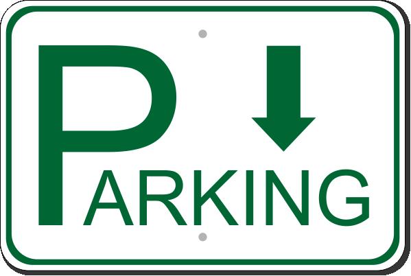 "Parking Back Aluminum Sign | 12"" x 18"""