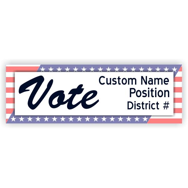 Patriotic Vote Banner - 2' x 6'
