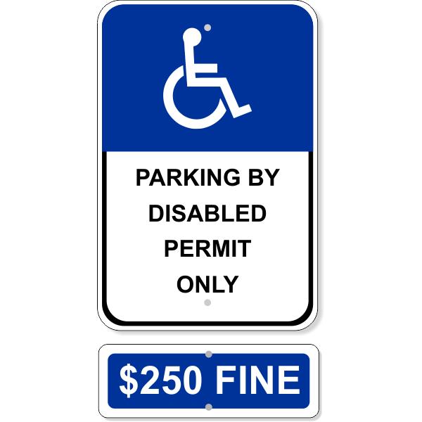 Permit Only Handicap Sign Bundle
