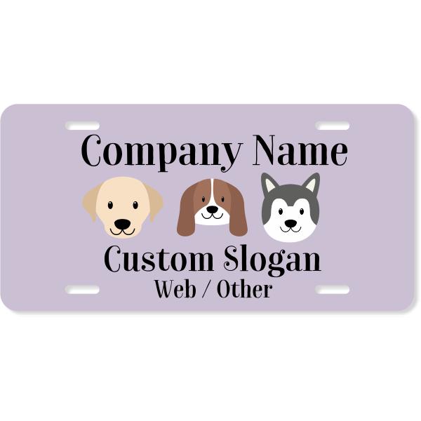 Pet Grooming License Plate